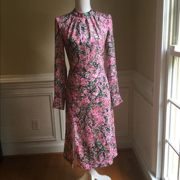 H M Dresses Hm Floral Midi Dress Wslit Nwt Sz6 Poshmark